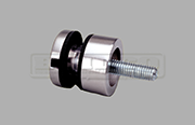 Stainless Steel Glass Adapter for flat surfaces and used in glass balustrade