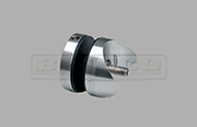 Stainless Steel Glass Adapter for round surfaces and used in glass balustrade