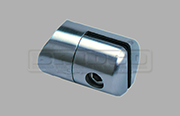 Stainless Steel Glass Adapter - Sheet Clamp for Round Post
