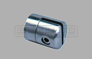 Stainless Steel Glass Adapter - Sheet Clamp for Flat Post