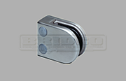 Stainless Steel Glass Clamp - Small D Shape Flat Post to fit 6mm and 8mm glass widths