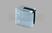 Stainless Steel Glass Clamp - Large Square Shape for Round Post to fit 6mm, 10mm and 12mm glass widths