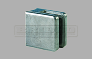 Zintec Glass Clamp Medium Square Shape for Flat Post to fit 6mm, 8mm and 10mm glass widths