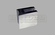 Stainless Steel Glass Clamp - Medium Square Shape for Round Post to fit 6mm, 8mm, 10mm and 12mm glass widths