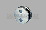 Stainless Steel Glass Clamp - Round Shape for  Flat and Round Post to fit  8mm, 10mm and 12mm glass widths  (Clamp is only on one side)