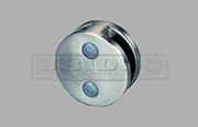 Stainless Steel Glass Clamp - Round for Flat and Round Post to fit  8mm, 10mm & 12mm glass widths (Clamp is on two sides)