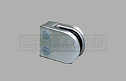 Stainless Steel Glass Clamp - Medium D Shape for Round Post to fit 6mm, 8mm and 10mm glass widths