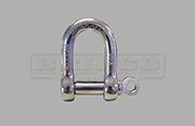 Load rated dee shackle Grade 316