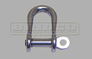 Stainless Steel semi round D shackle