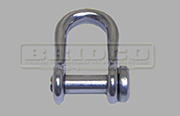 Stainless Steel Semi round slotted head D shackle Grade 304