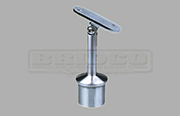 Rail Support Adjustable Flat Rail - Stainless Steel Tube Fitting