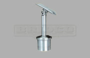 Rail Support Adjustable Round Rail - Stainless Steel Tube Fitting