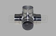Flush Joiner Tee - 4 Way - Stainless Steel Tube Fitting