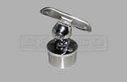 Rail Support - Adjustable - For Round Handrail - Stainless Steel Tube Fitting