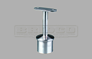 Rail Support - Fixed - Flat Rail - Stainless Steel Tube Fitting